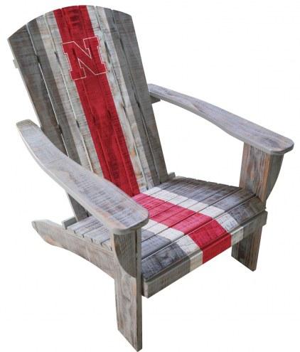 Nebraska Cornhuskers Wooden Adirondack Chair