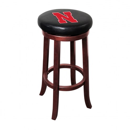 Nebraska Cornhuskers Wooden Bar Stool