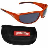 Nebraska Cornhuskers Wrap Sunglasses and Case Set