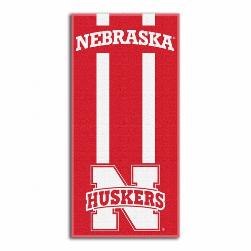 Nebraska Cornhuskers Zone Read Beach Towel