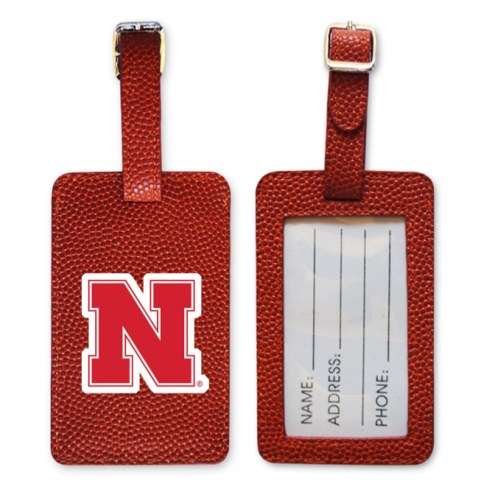 Nebraska Cornhuskers Basketball Luggage Tag