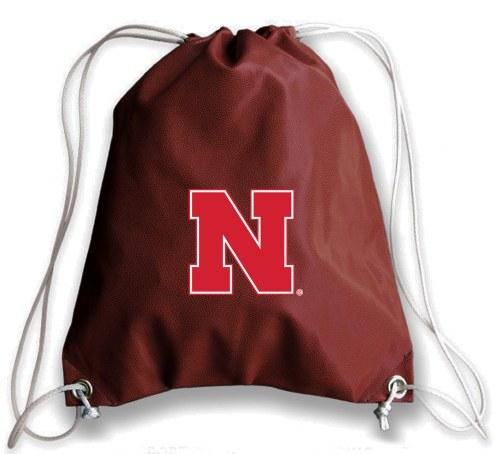 Nebraska Cornhuskers Football Drawstring Bag