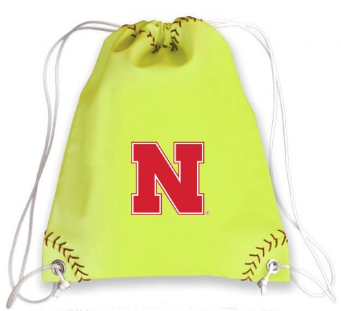 Nebraska Cornhuskers Softball Drawstring Bag