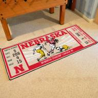 Nebraska Cornhuskers Football Field Runner Rug