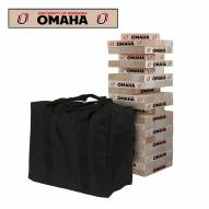 Nebraska Omaha Mavericks Giant Wooden Tumble Tower Game