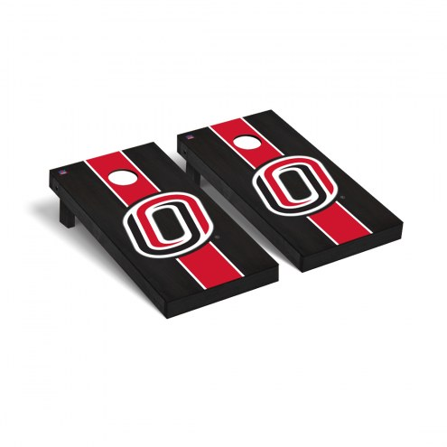 Nebraska Omaha Mavericks Onyx Stained II Cornhole Game Set