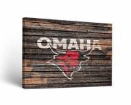 Nebraska Omaha Mavericks Weathered Canvas Wall Art