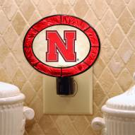 Nebraska Cornhuskers NCAA Stained Glass Night Light
