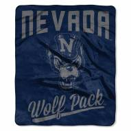 Nevada Wolf Pack Alumni Raschel Throw Blanket