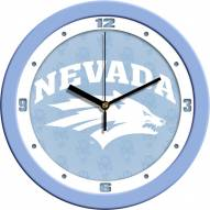 Nevada Wolf Pack Baby Blue Wall Clock