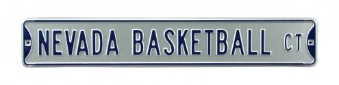 Nevada Wolf Pack Basketball Street Sign
