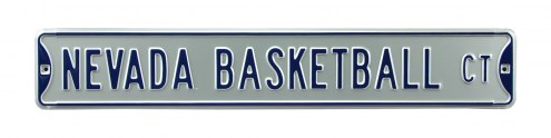 Nevada Wolf Pack Basketball Street Sign