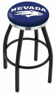 Nevada Wolf Pack Black Swivel Barstool with Chrome Accent Ring