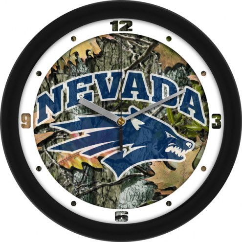 Nevada Wolf Pack Camo Wall Clock
