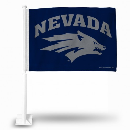 Nevada Wolf Pack College Car Flag