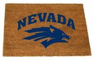 Nevada Wolf Pack Colored Logo Door Mat