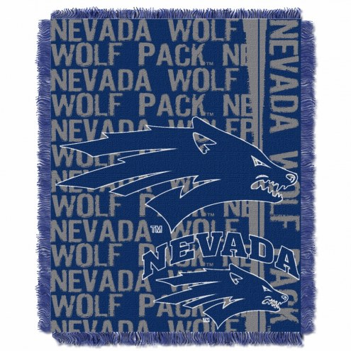Nevada Wolf Pack Double Play Woven Throw Blanket