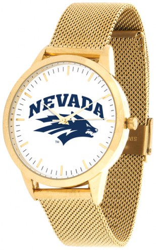 Nevada Wolf Pack Gold Mesh Statement Watch