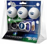 Nevada Wolf Pack Golf Ball Gift Pack with Key Chain