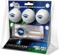 Nevada Wolf Pack Golf Ball Gift Pack with Kool Tool