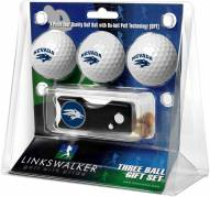 Nevada Wolf Pack Golf Ball Gift Pack with Spring Action Divot Tool