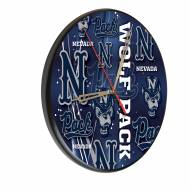Nevada Wolf Pack Digitally Printed Wood Clock