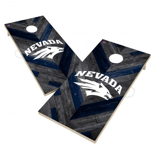 Nevada Wolf Pack Herringbone Cornhole Game Set
