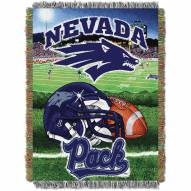 Nevada Wolf Pack Home Field Advantage Throw Blanket
