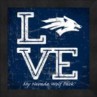 Nevada Wolf Pack Love My Team Color Wall Decor