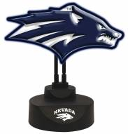Nevada Wolf Pack Team Logo Neon Light