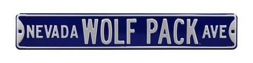 Nevada Wolf Pack NCAA Embossed Street Sign