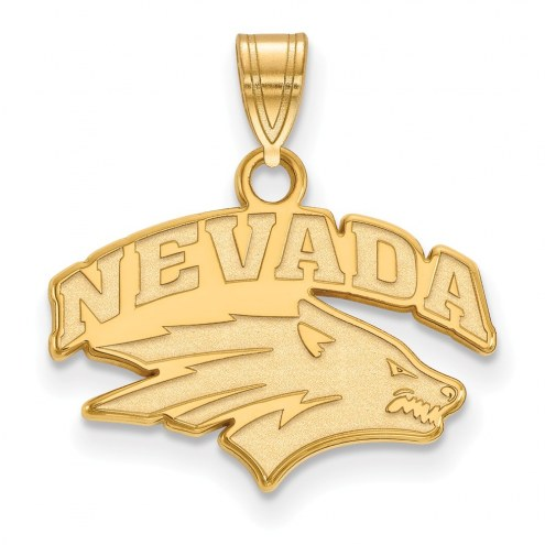 Nevada Wolf Pack NCAA Sterling Silver Gold Plated Small Pendant