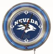 Nevada Wolf Pack Neon Clock
