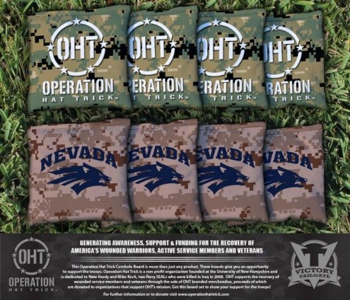 Nevada Wolf Pack Operation Hat Trick Cornhole Bag Set