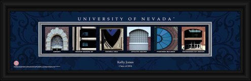 Nevada Wolf Pack Personalized Campus Letter Art
