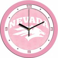 Nevada Wolf Pack Pink Wall Clock
