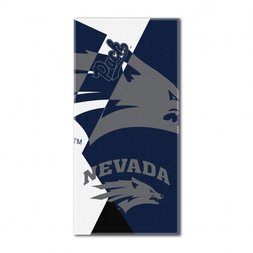 Nevada Wolf Pack Puzzle Beach Towel