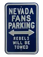 Nevada Wolf Pack Rebels Towed Parking Sign