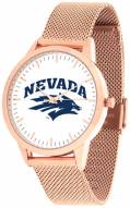 Nevada Wolf Pack Rose Mesh Statement Watch