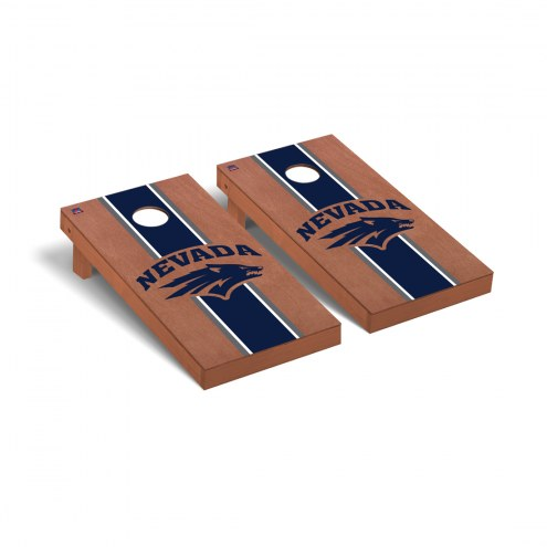 Nevada Wolf Pack Rosewood Stained Cornhole Game Set
