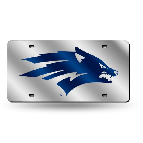 Nevada Wolf Pack Silver Laser License Plate