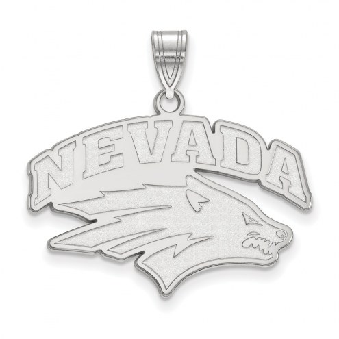 Nevada Wolf Pack Sterling Silver Large Pendant