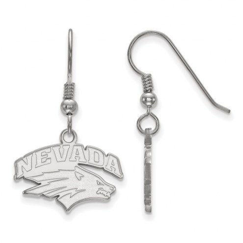 Nevada Wolf Pack Sterling Silver Small Dangle Earrings