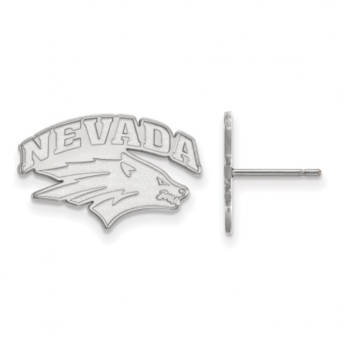 Nevada Wolf Pack Sterling Silver Small Post Earrings