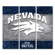 Nevada Wolf Pack Triptych Double Border Canvas Wall Art