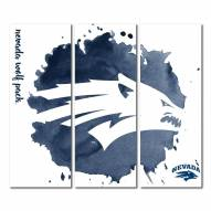 Nevada Wolf Pack Triptych Watercolor Canvas Wall Art