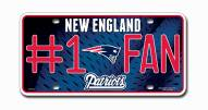 New England Patriots #1 Fan License Plate