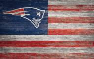 "New England Patriots 11"" x 19"" Distressed Flag Sign"