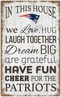 "New England Patriots 11"" x 19"" In This House Sign"