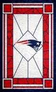 "New England Patriots 11"" x 19"" Stained Glass Sign"